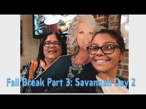 vlog 13- Fall Break Part 3: Savannah Day 2 | Ghost Tour, Exploring, Paula Deen's Restaurant & more