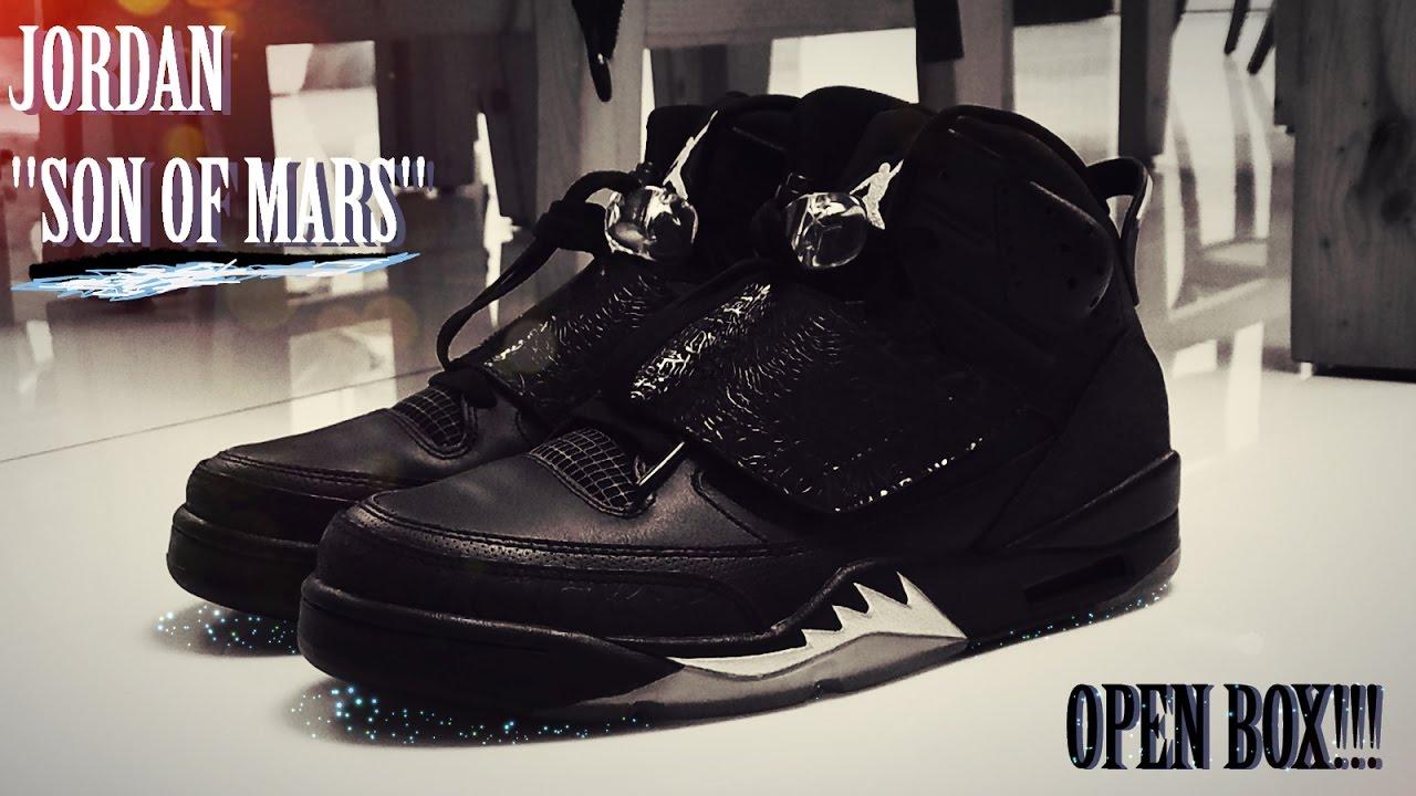 the latest 5c179 1fa75 denmark mens shoes jordan son of mars white black blue c075d 8e2c3  italy  ajjordan son of mars black metallic open box review on feet 9016a 5b097