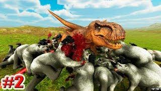 T-REX vs МЕДВЕДЕЙ!!! КОММЕНТАРИИ ПОДПИСЧИКОВ!!! Beast Battle Simulator!!! (2 серия)