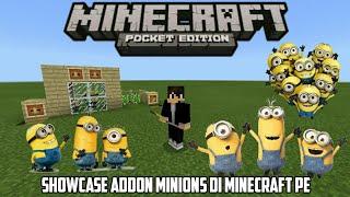 Minions Di Minecraft || Showcase Addon Minions Di Minecraft Pe