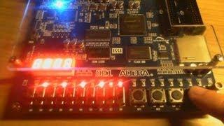FPGA Tutorial 1. Blinking LEDs on DE1 Altera Board