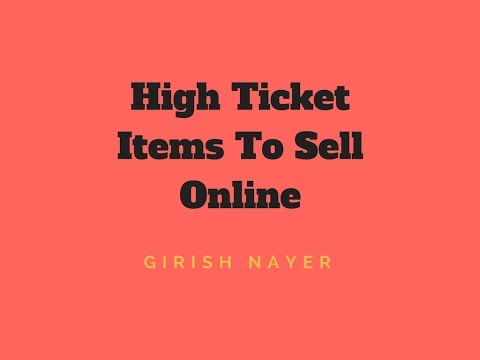 High ticket items to sell online youtube for Items to make and sell online