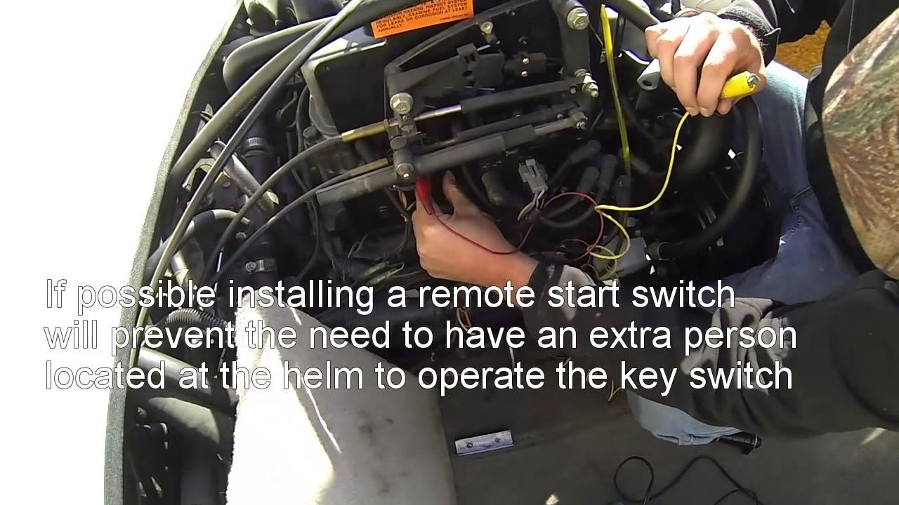 hight resolution of how to quickly diagnose a no start condition on a marine engine