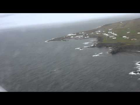 Grimsey, Iceland approach and landing.........watch the Birds !