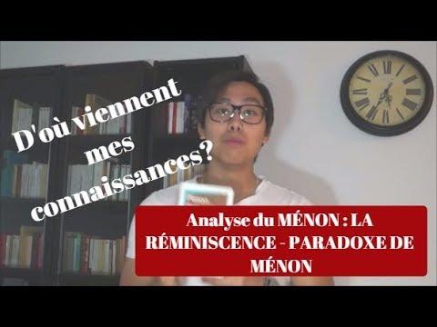 ANALYSE DU MÉNON: LA RÉMINISCENCE - PLATON