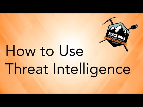 How To Use Threat Intelligence