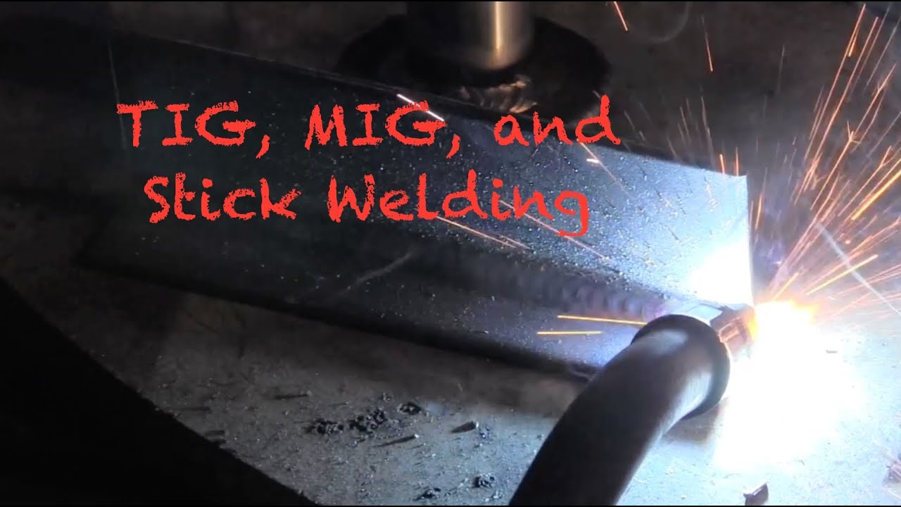 Mig Tig Stick Welder >> TIG, MIG, and Stick Welding with a Lincoln Power Mig 210mp - YouTube