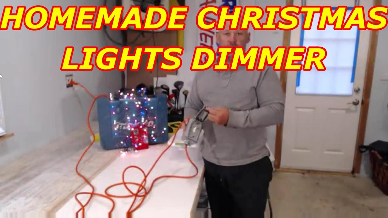 homemade exterior christmas light dimmer - Christmas Light Dimmer
