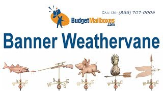 Budgetmailboxes.com | Good Directions 9628p Banner Weathervane - Polished Copper