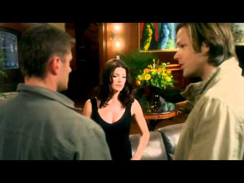 Sam and Dean in Jared Padaleckis house and wife