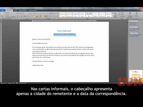 MODELO DE CARTA FORMAL E INFORMAL
