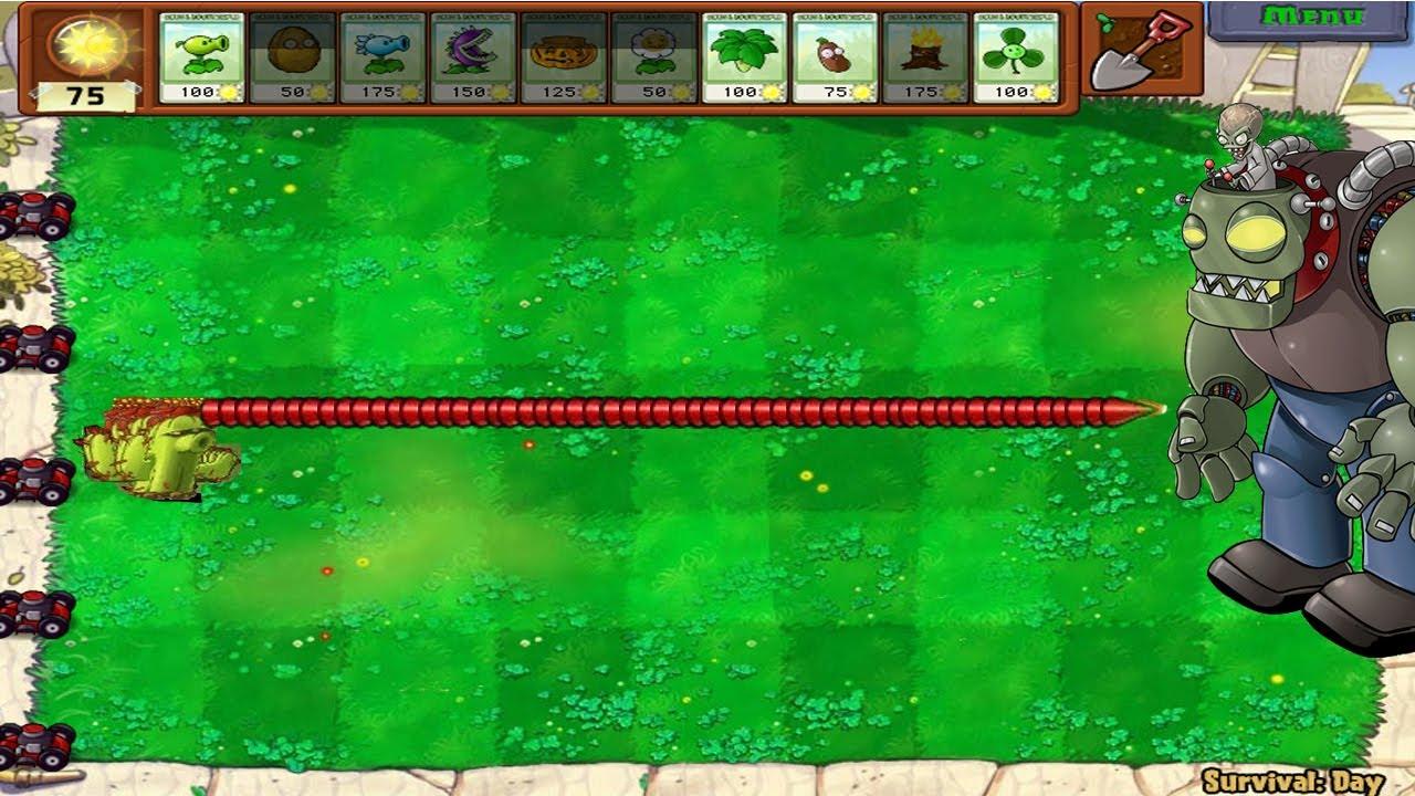 1 Cactus vs Gargantuar -  Plants vs Zombies Minigames Zombotany 2