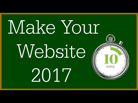 How To Make a WordPress Website - 2017 (10 Minutes)