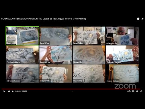 CLASSICAL CHINESE LANDSCAPE PAINTING Lesson 25 Tao Lengyue the Cold Moon Painting