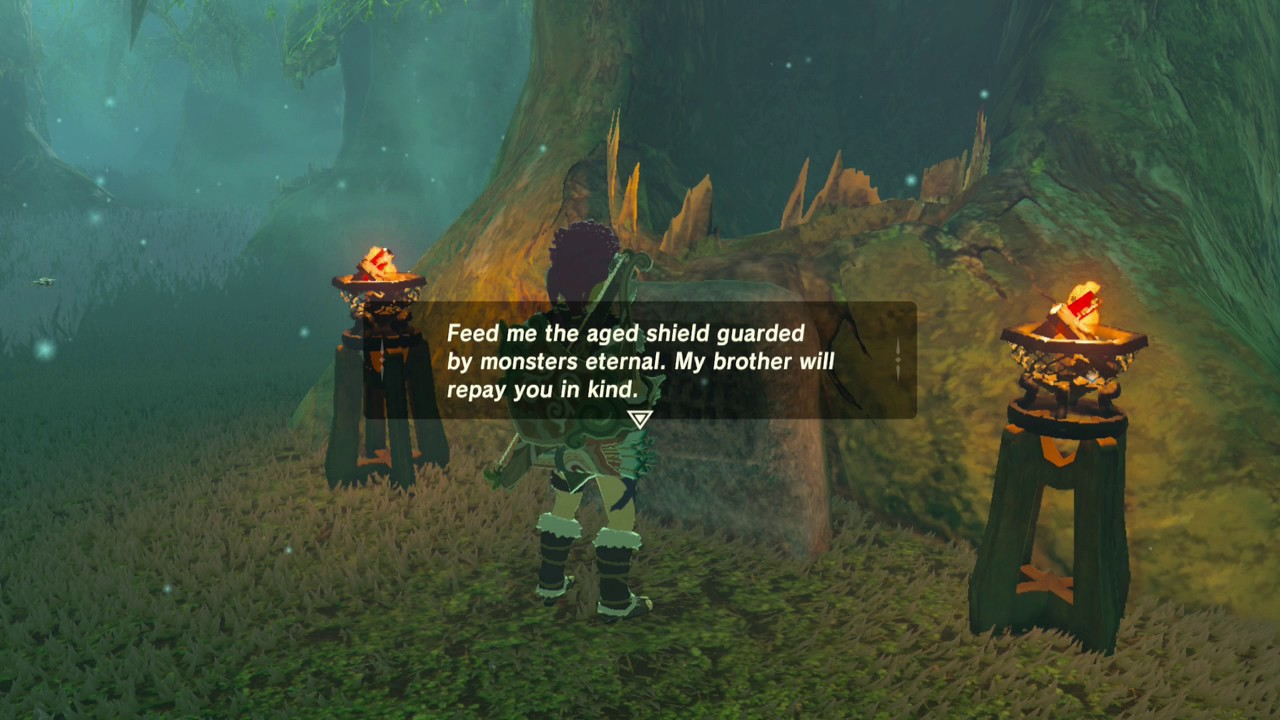 Kuhn Sidajj Shrine Kuhn Sidajj S Blessing Great Hyrule Forest Trial Of Second Sight Quest Youtube