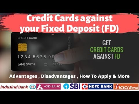 Credit Card Against Fixed Deposit | How To Get Credit Card Against FD 🔥🔥🔥