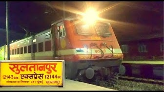 [IRI] Recently LHBfied Mumbai - Sultanpur Express First Time with Electric Loco at Sultanpur Station