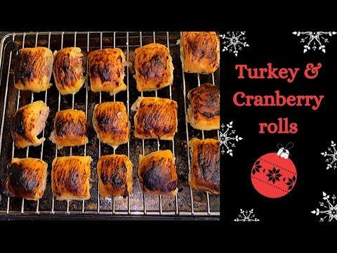 Turkey & Cranberry Rolls:) Easy Festive Recipe