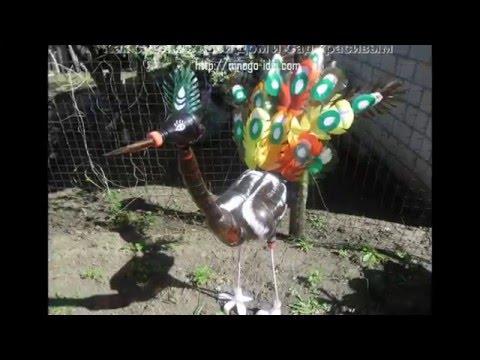 Павлин своими руками для сада