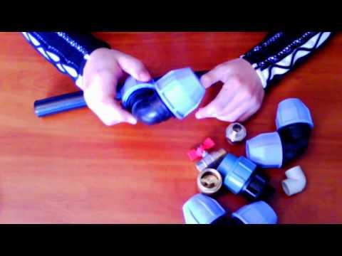 Как соединить водопроводные трубы с помощью фитинга