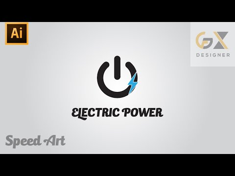 How to create an Electric power company Logo | illustrator tutorial thumbnail