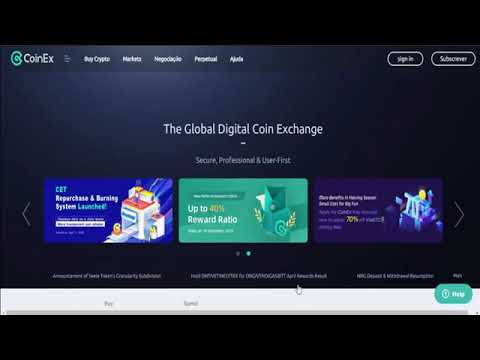 Como usar a CoinEX Exchange tutorial completo