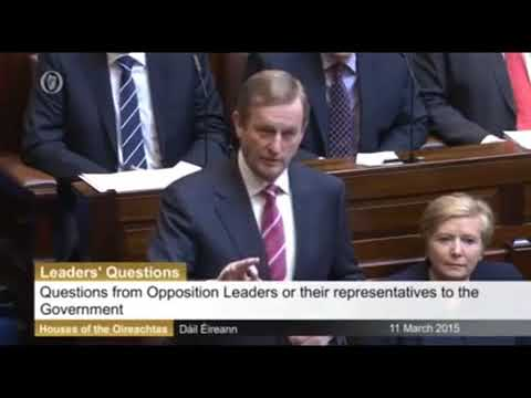 Enda Kenny refusing to speak English in the Dáil