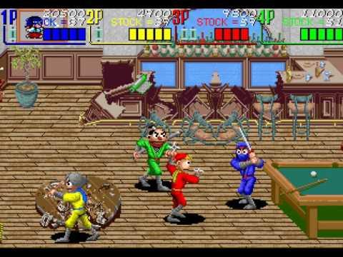 The Ninja Kids arcade 4 player Netplay 60fps