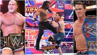 WWE SUMMERSLAM 2021 - John Cena WINS Universal Championship & Goldberg WINS WWE Championship ?
