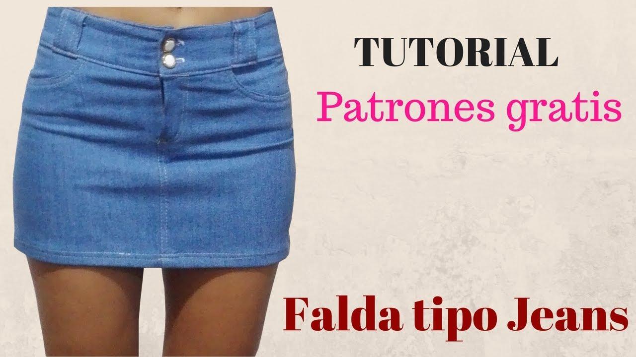 f46e7c6a3 DIY Cómo hacer una falda jeans corte y confección