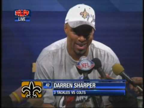 Darren Sharper Super Bowl Press Conference