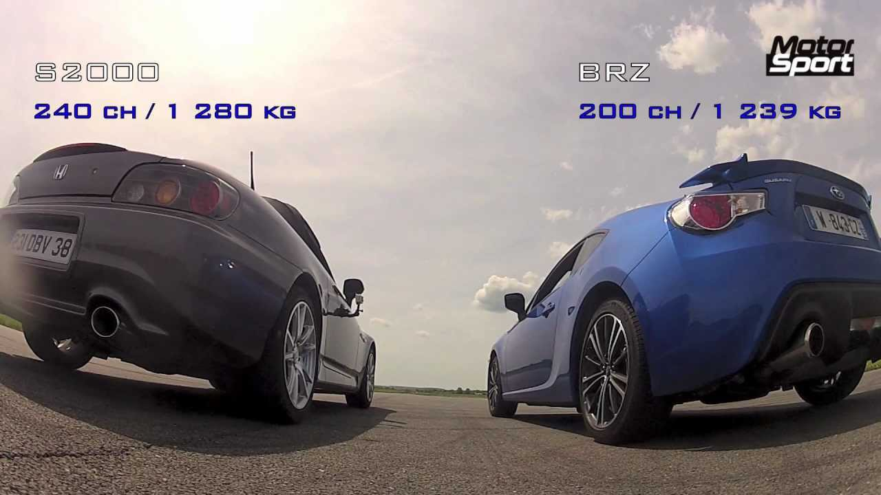 Drag Race Subaru Brz Vs Honda S2000 Motorsport Youtube