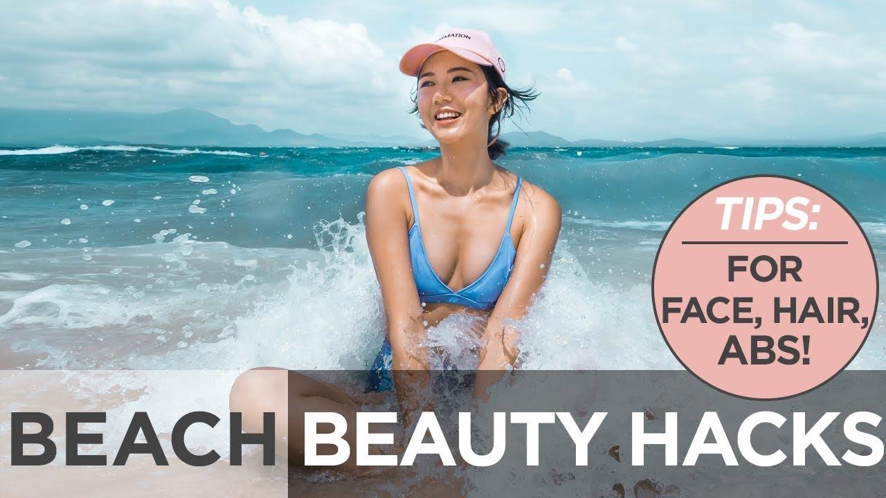 Beach Beauty Hacks (For skin, hair, ABS!!!)  Camille Co