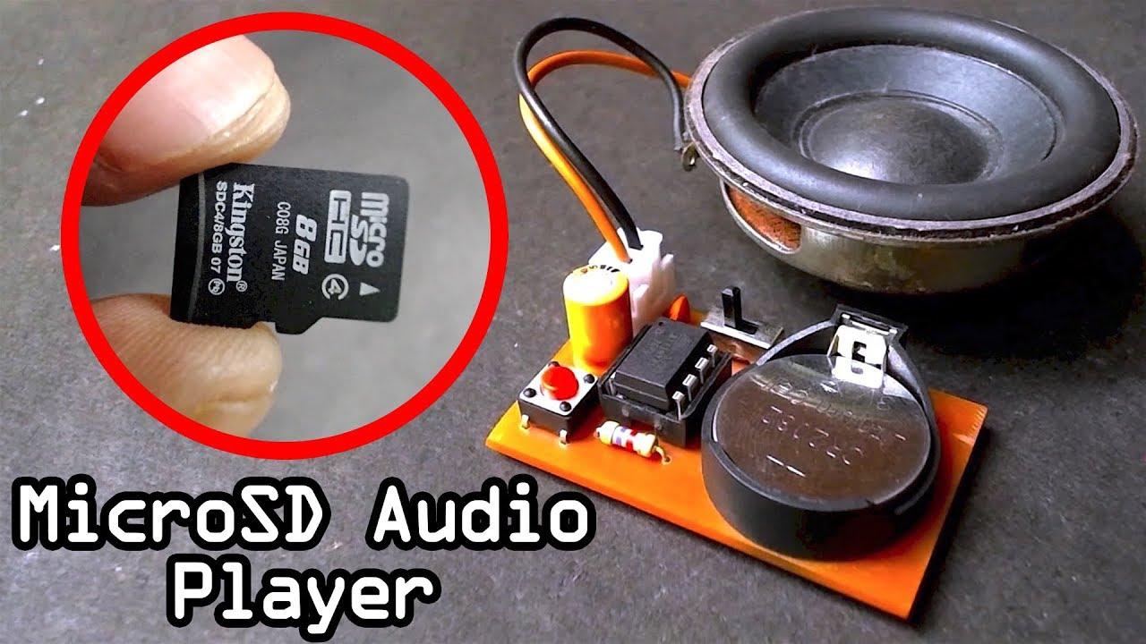 Micro SD Audio Player Using 8 Pin IC on