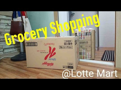 Shopping at Lotte Mart! Delivery!