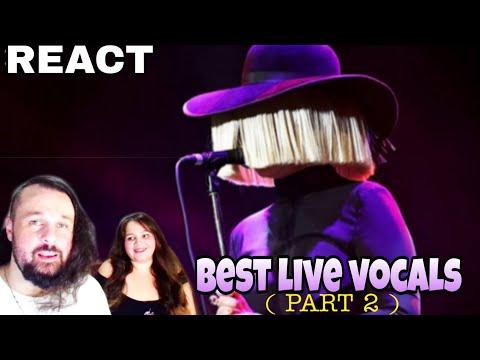 REAGINDO: SIA - BEST  VOCALS  PART 2 REACTING