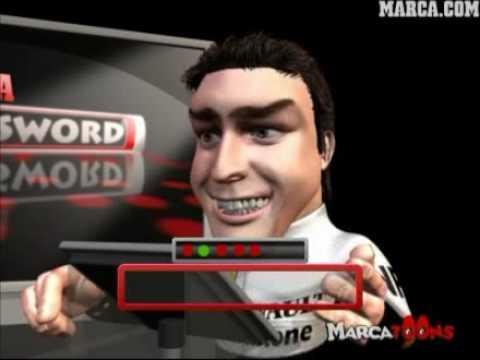 Fernando Alonso Y Hamilton En Password - MarcaToons