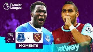 Everton v West Ham | Top 5 Premier League Moments | Lukaku, Payet, Sigurdsson