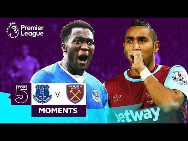 Everton v West Ham | Top 5 Premier League Moments | Lukaku, Payet, Sigurdsson