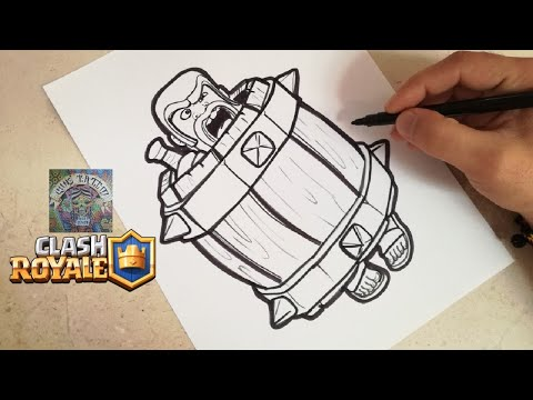 Como Dibujar El Barril De Barbaro Clash Royale