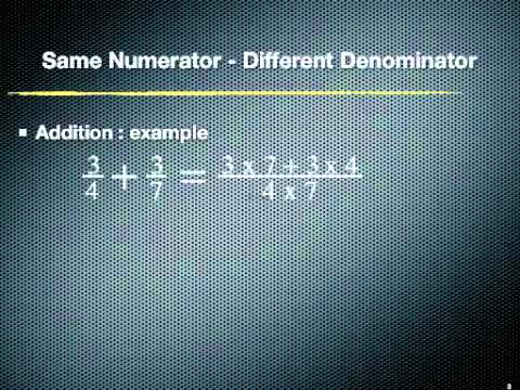 Fraction addition n subtraction same numerator different fraction addition n subtraction same numerator different denominator ccuart Gallery