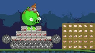Bad Piggies - SILLY INVENTIONS MONSTER VEHICLE VS TNT