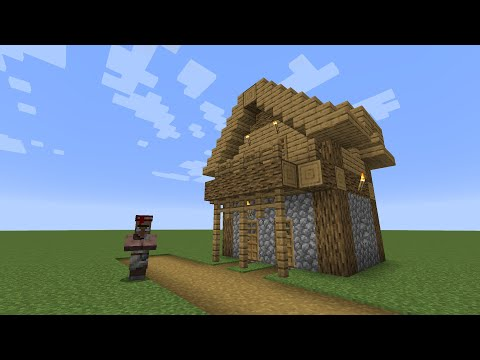 How To Build A Minecraft Village Library 1 1 14 Plains Youtube