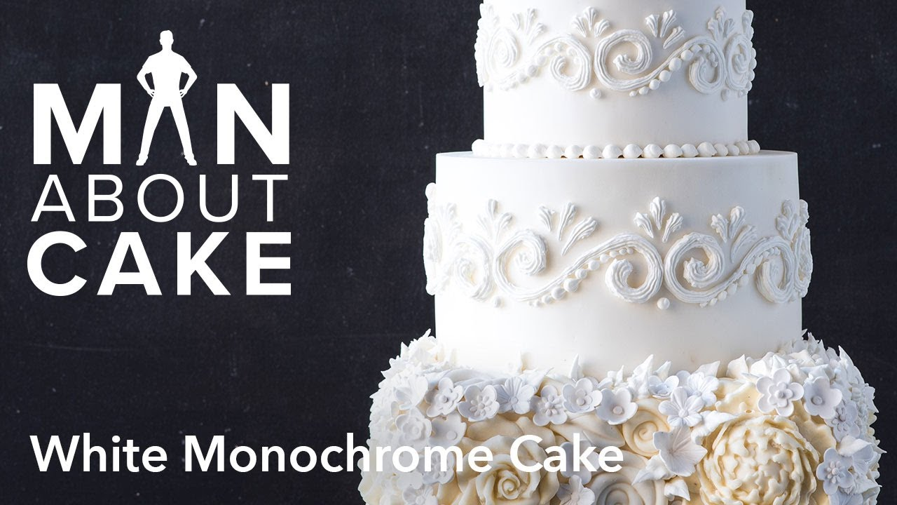 man about) White Monochrome Cake | Man About Cake - YouTube
