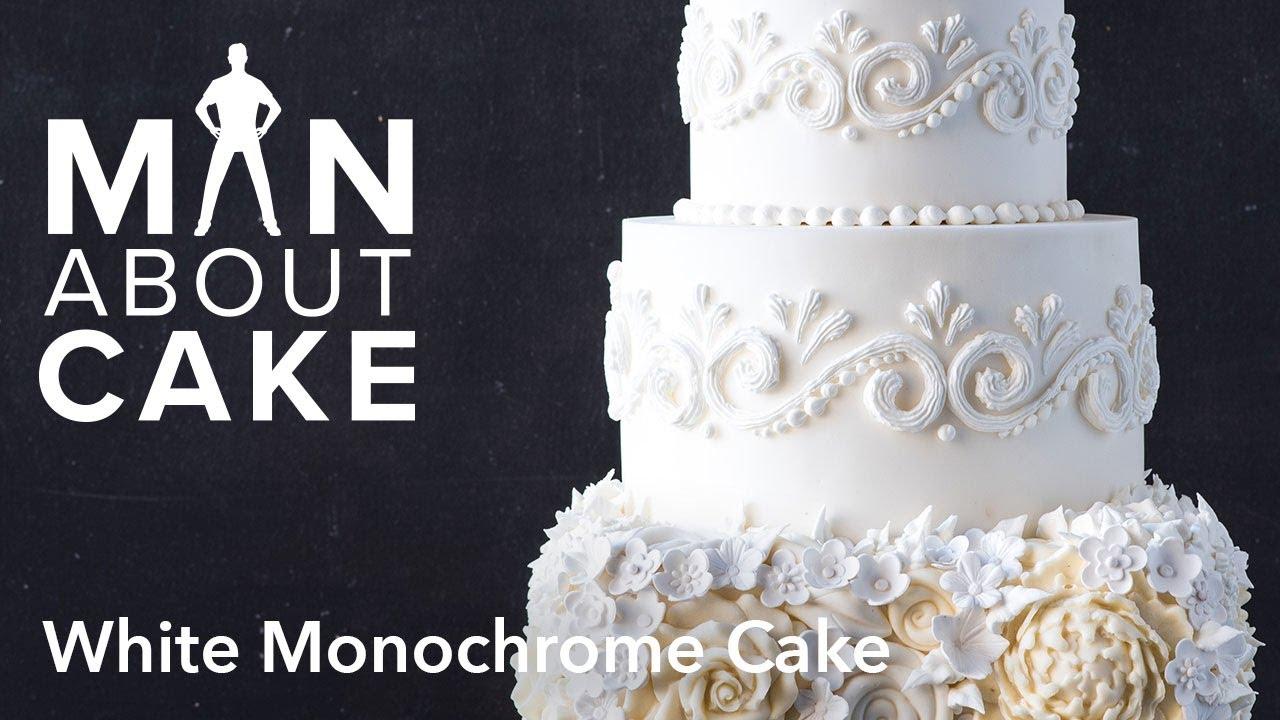 Man About White Monochrome Cake
