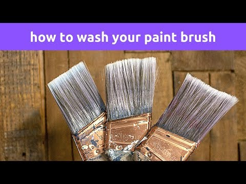 How To Wash Your Paint Brush
