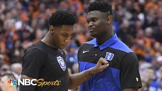Zion Williamson's effect on Duke's national title chances | NBC Sports