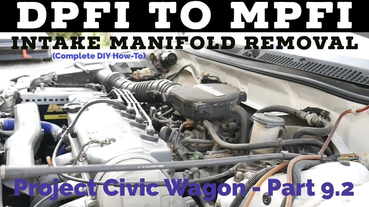 dpfi to mpfi intake manifold removal 88 91 civic crx [ 1280 x 720 Pixel ]