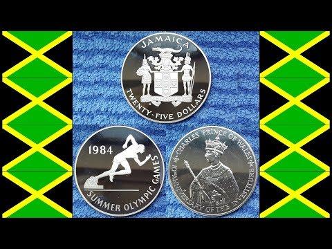 Big Jamaican 25 Dollars Silver Coins (136 Gram)