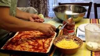 Семья Бровченко. Рецепт пиццы (разные варианты начинки). Пицца с мясом. Пицца с рыбой. И др.